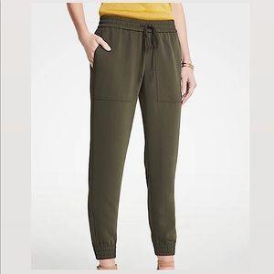 Ann Taylor Army Green Jogger Pants